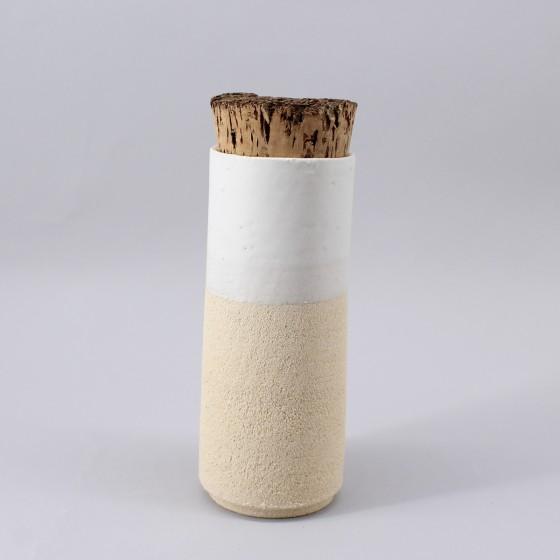 Eggshell white stoneware...