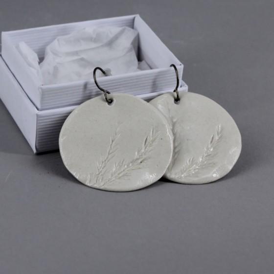Boucle d'oreille en porcelaine
