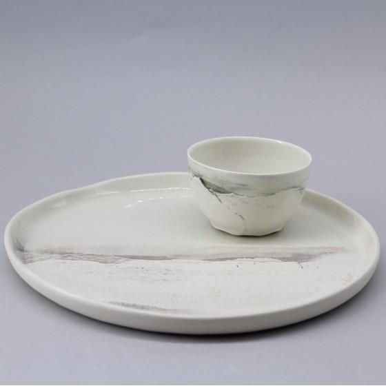 """Porcelain plate""""Aléasucs"""" T3"""