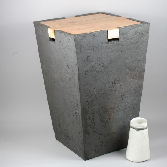 Ceramic and wood table