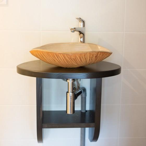 """Red stoneware basin """"Mango"""""""