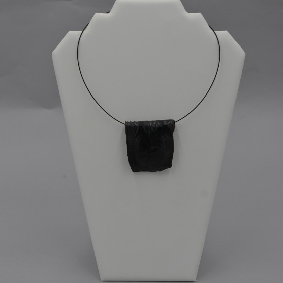 Black stoneware choker...